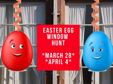 Easter Egg Window Hunt:
