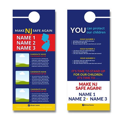 Make NJ Safe Again BOE Door Hanger (Three Candidates)