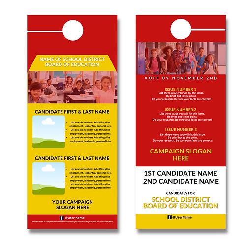 Red & Gold BOE Door Hanger (Two Candidates)