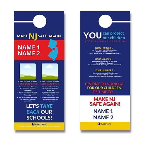 Make NJ Safe Again BOE Door Hanger (Two Candidates)