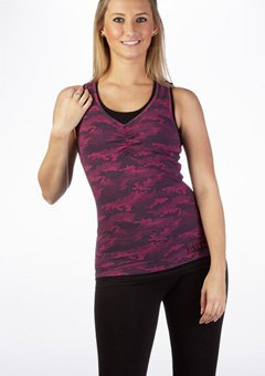 Pineapple Pink Ruched Dbl Layer Top