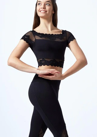 So Danca Cap Sleeve Crop Top - RDE-1971