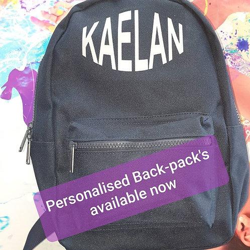 Mini Backpack with any name