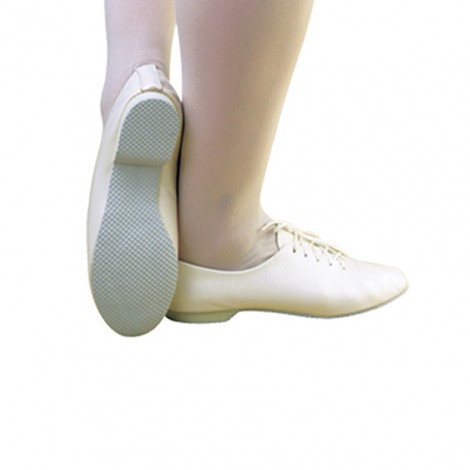 White Rubber Sole Jazz Shoes