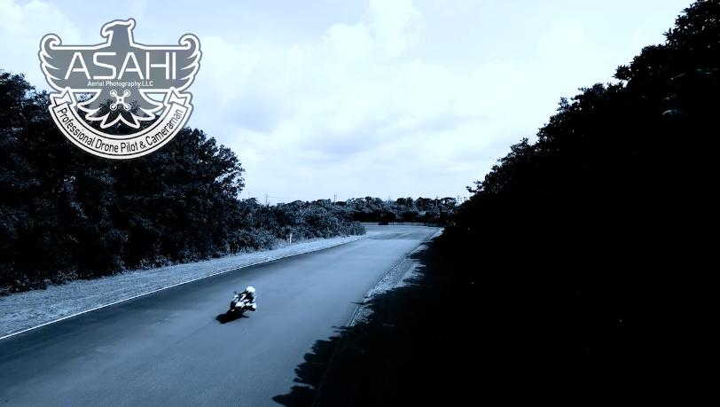 バイク空撮