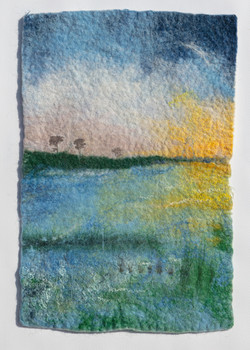 The Marsh - felt picture