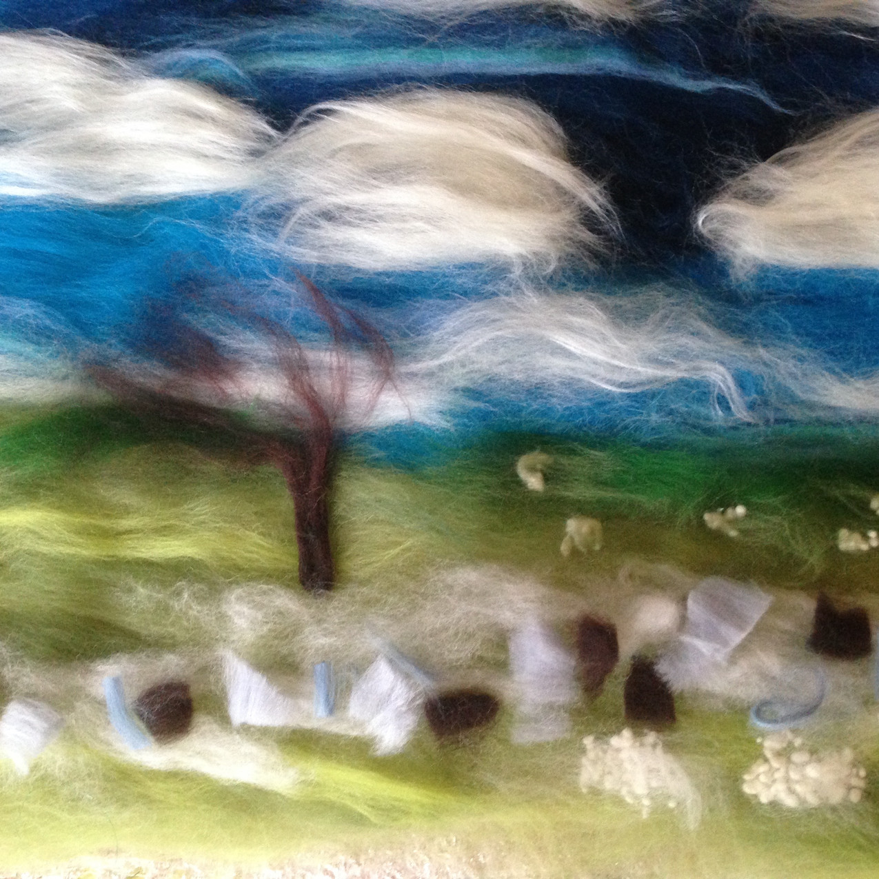 Wall & sheep-embroidery to be added