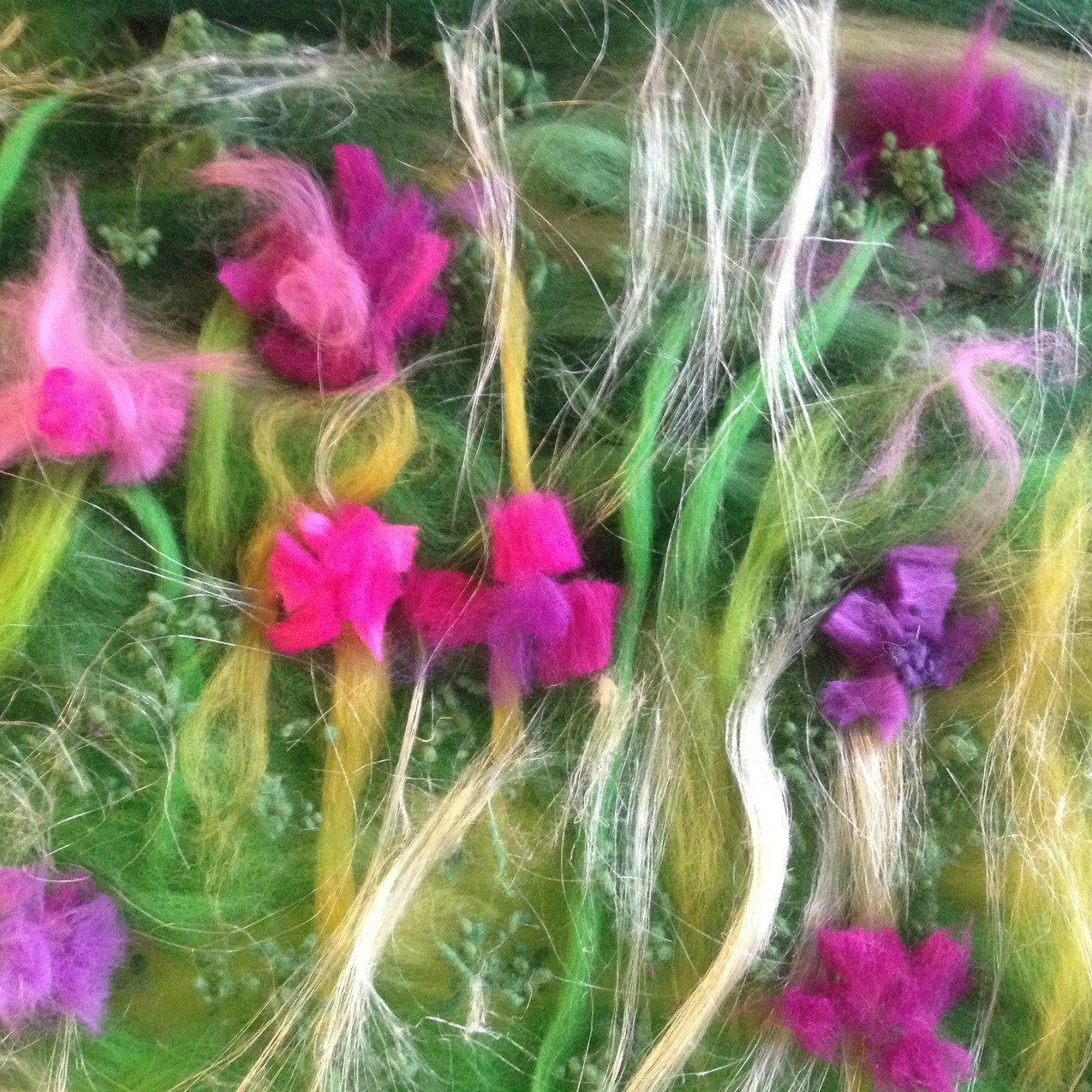 Flowers waiting to be felted