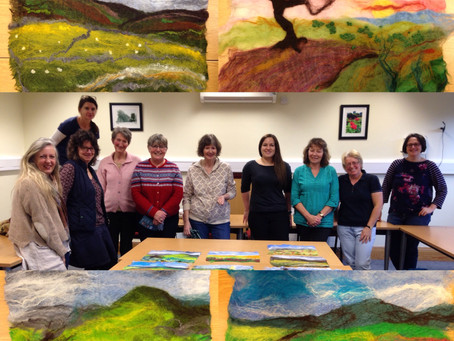 'Painting with wool' landscapes@ Richmond