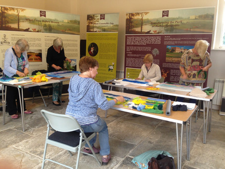 'Painting with wool' workshop