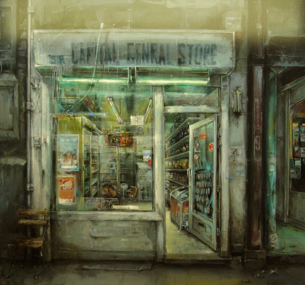 Leticia Gaspar, Pintura, artes visuales, figuración, arte, recursos plásticos, luz, ciudad, emoción, color
