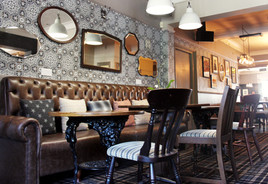 Bar area at The Station Pub, West Byfleet