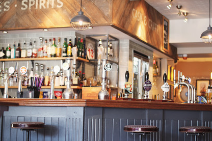Our bar featuring craft beers, wines and spirits