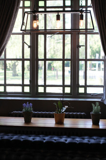 A cosy window seat in our bar area