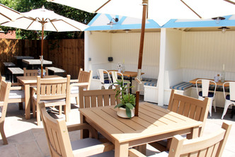 Our large sunny terrace