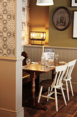 Dining area at The Station Pub, West Byfleet