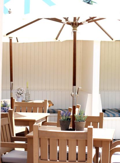 Our garden seating area