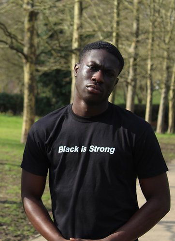 """Mens """"Black is Strong"""" T-Shirt"""