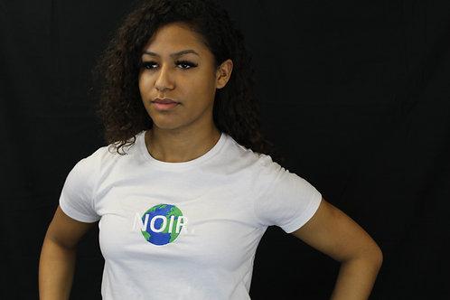 """Ladies """"NOIR"""" Large Globe Logo T-Shirt"""