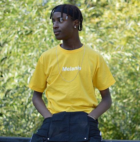 "Mens ""Melanin"" T-Shirt. Sunflower Yellow"