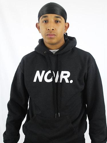 "Unisex Black ""NOIR"" Hooded Sweatshirt"