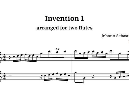 אינוונציה מס' 1 מאת באך לשני חלילים