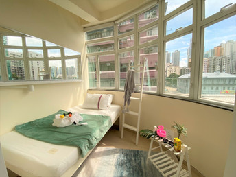 Normal Bedroom With Round Window
