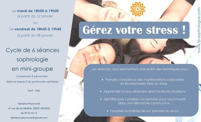Mini-groupe Gestion du stress : quelques places restantes