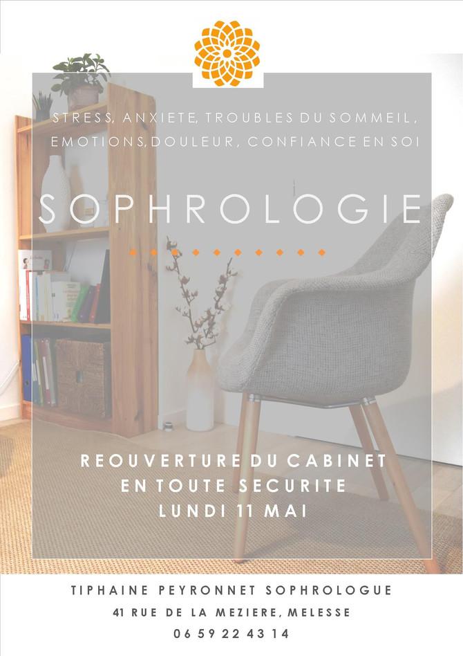 11 mai Réouverture du cabinet de sophrologie