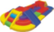 Viga de Equiliro Circuito Parvulo Medio Menor | Junji | Softplay
