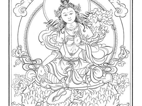 INVITATION to The White Tara Empowerment and Initiation with Tibetan Lama Dawa to pray to remove obs