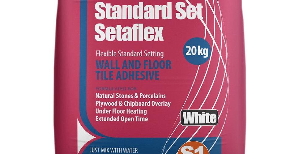20kg WHITE STANDARD-SET SETAFLEX TILE ADHESIVE