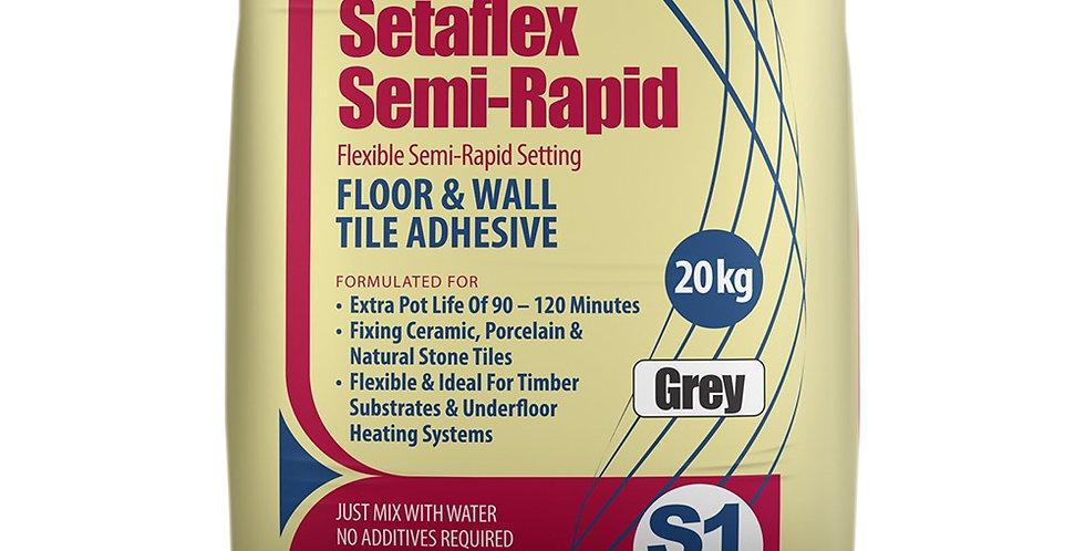 20kg GREY SEMI RAPID-SET SETAFLEX WALL & FLOOR TILE ADHESIVE
