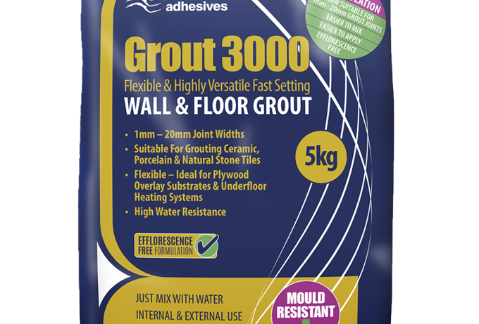 5kg GROUT 3000 WALL & FLOOR TILE GROUT