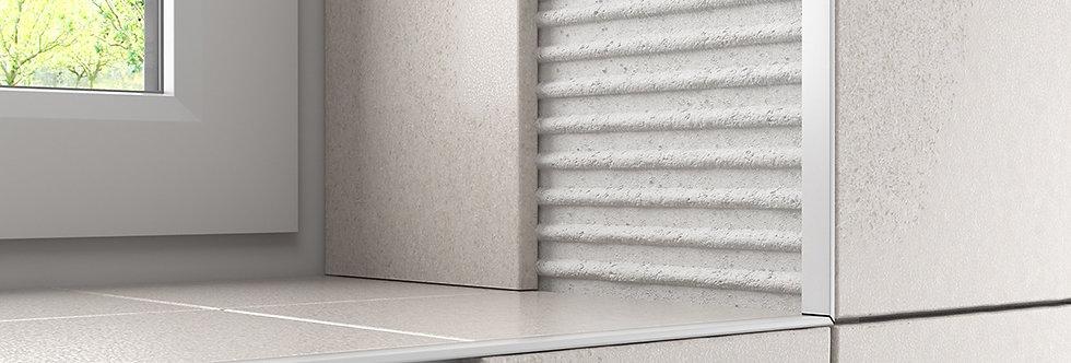2.4m STRAIGHT-EDGE WHITE PVC TILE TRIM