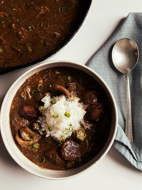 TURKEY + Sausage Gumbo | November 27th @ 5pm EST