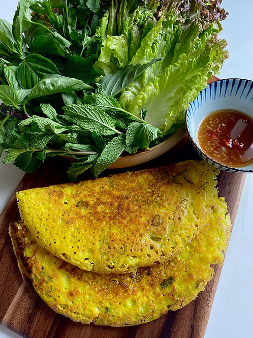 COCONUT TURMERIC CREPES |on demand