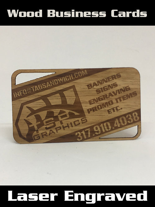 Wood Business Cards QTY: 100