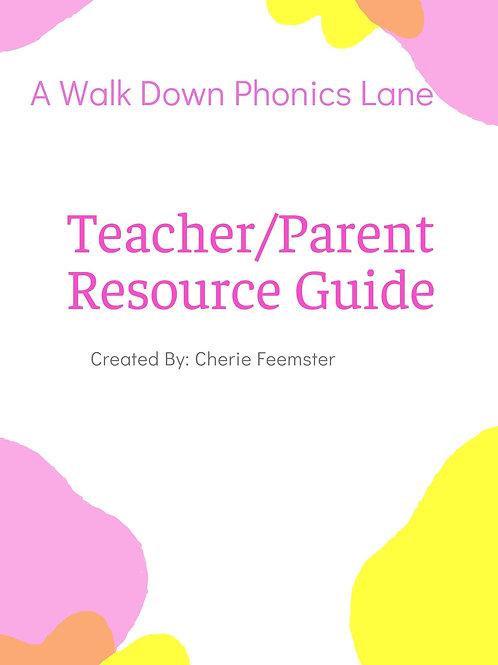 A Walk Down Phonics Lane Teacher Resource