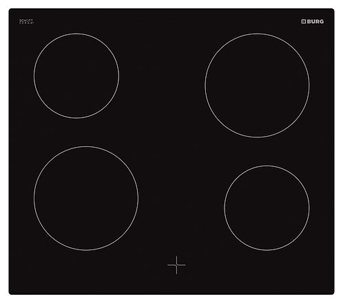 Oven controlled ceramic hob in combination with oven - EBU3014