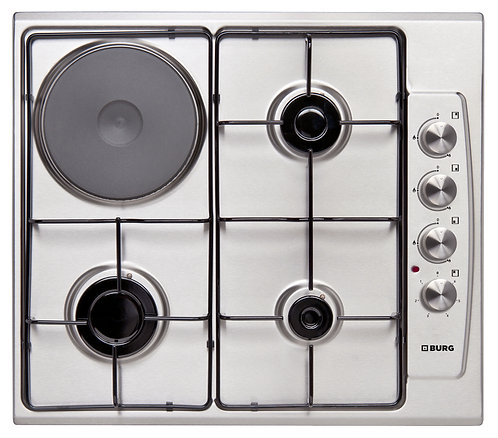 Gas Hob with one hot plate on stainless steel - EBU3302