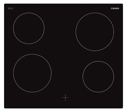 Oven controlled ceramic hob in combination with oven - EBU3002