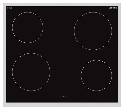 Oven controlled ceramic hob with steel frame in combination with oven - EBU3012