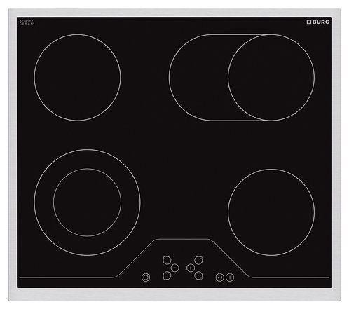 Electric hob SCHOTT Ceran with touch controls and steel frame - EBU3017