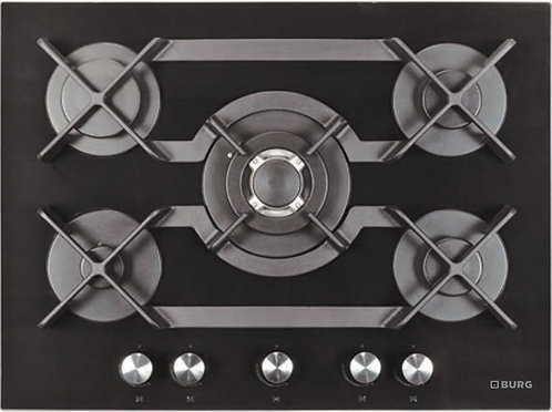 Gas Hob with Wok on SCHOTT glass - EBU9005
