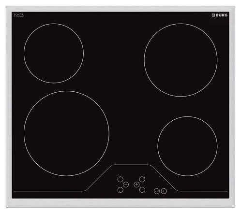 Electric hob SCHOTT Ceran with touch controls and steel frame - EBU3016