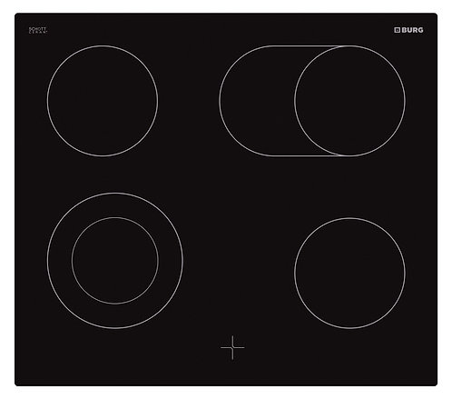 Oven controlled ceramic hob in combination with oven - EBU3003