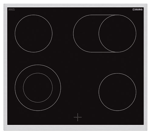 Oven controlled ceramic hob with steel frame in combination with oven - EBU3013
