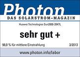 HUAWEI Wechselrichter - Photon Test sehr gut +