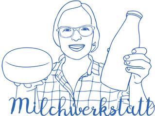 """Milchwerkstatt"" Logo"